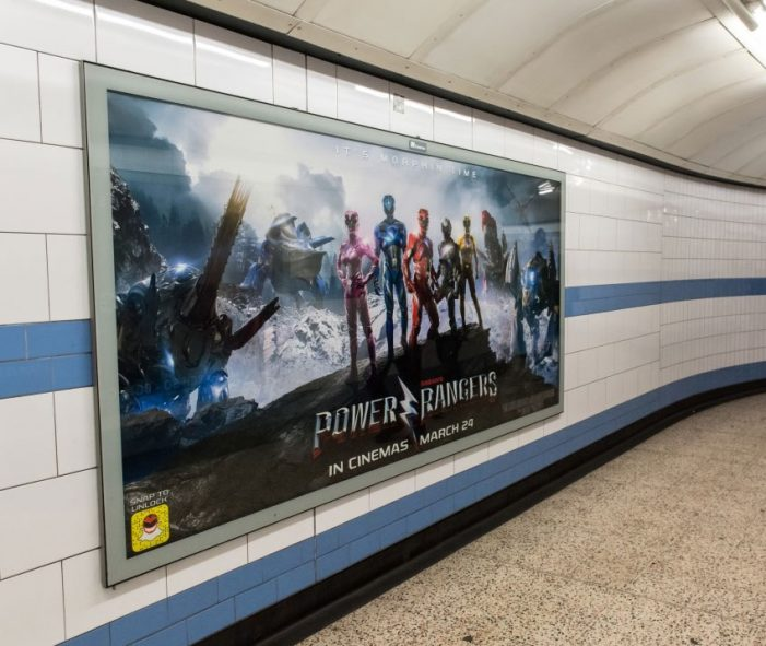 OOH campaign for new Power Rangers movie lets UK fans snap to unlock exclusive character filters