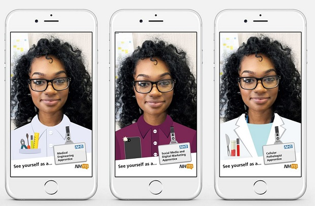 NHS uses Snapchat to attract new recruits during National Apprenticeship Week