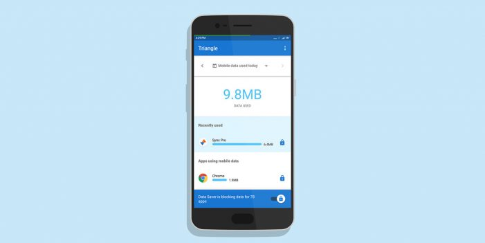 Google tests Triangle App to help track and manage mobile data