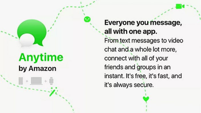 """Amazon takes on WhatsApp with """"Anytime"""" messenger"""
