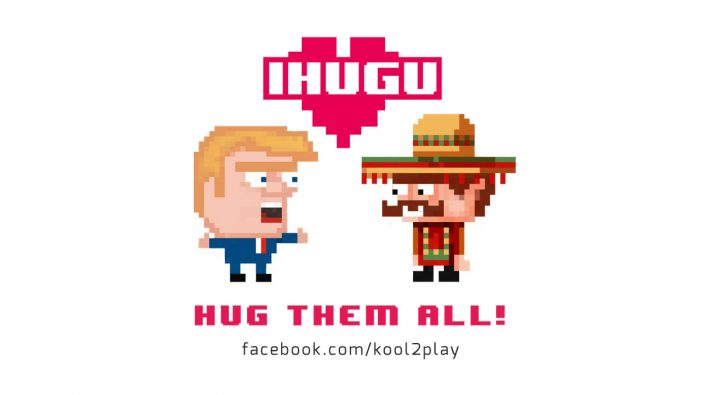 Donald Trump gives a big hug to Mexicans in new mobile game by Kool2Play