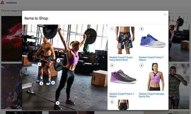 Reebok makes social lifestyle content shoppable