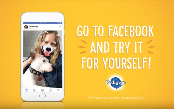 Pedigree Runs Facebook AR Campaign for 'Adopt a Shelter Dog Month'
