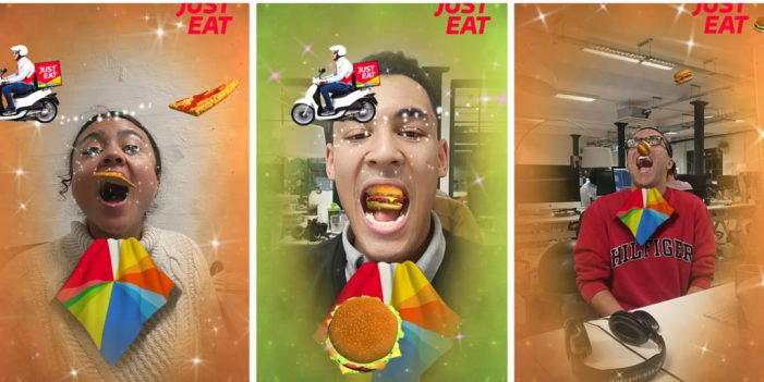 Just Eat Embraces AR to Shower Facebook Users in its Food
