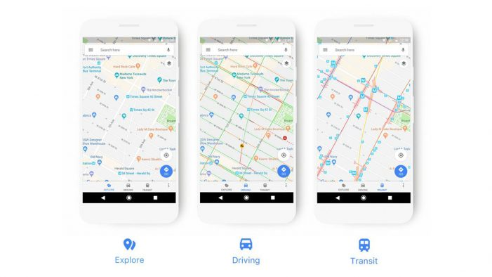 Google Maps' new look adapts to how you travel