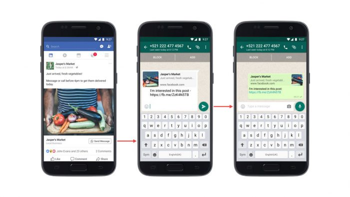 Facebook unveils ads that open chat messages on WhatsApp