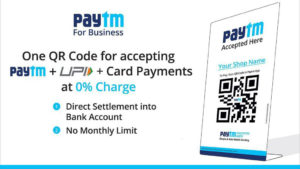 Paytm makes push for QR code as primary mode for digital