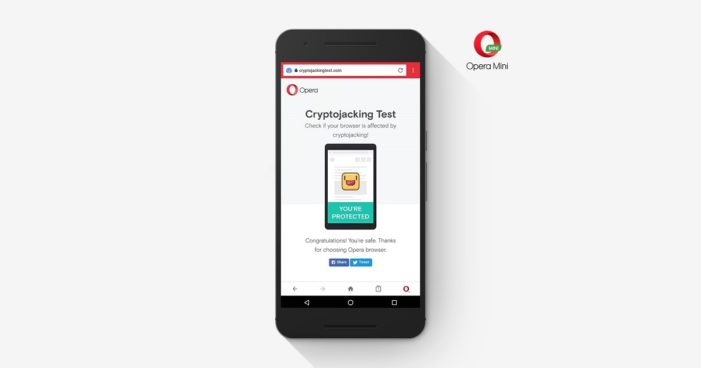 Opera introduces bitcoin mining protection in its mobile browsers
