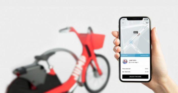 Uber tests dockless bike-sharing service