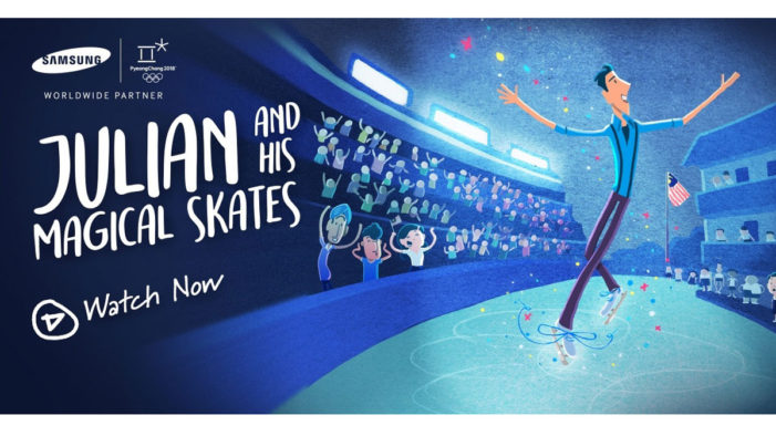 Samsung Malaysia follows the journey of Julian and his magical skates, illustrated on a Galaxy Note8