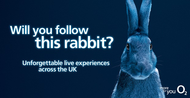 O2 renews #FollowTheRabbit digital campaign created by VCCP