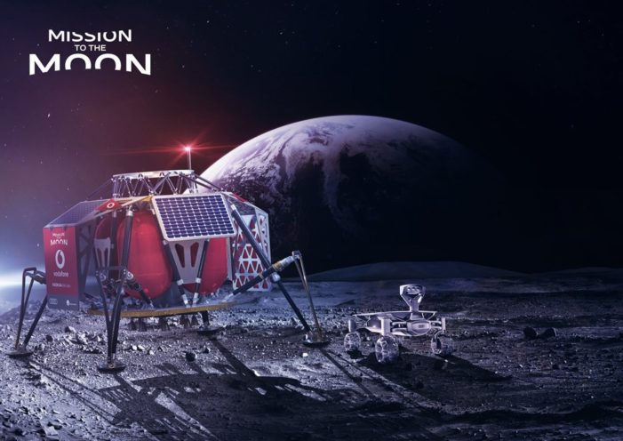 Nokia and Vodafone are putting 4G on the Moon