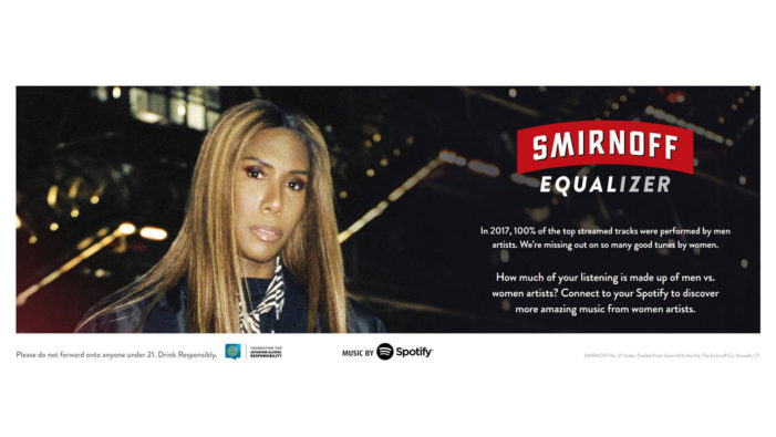 Smirnoff & Spotify Debut New Experience Enabling You to Uncover Your Listening Habits to Promote Phenomenal Women