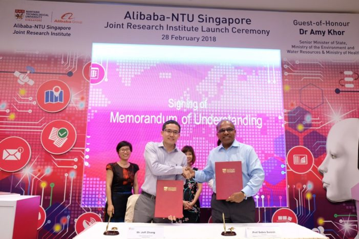 Alibaba partners NTU Singapore to establish its first AI research institute outside China
