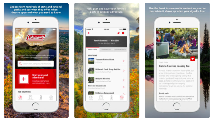 Coleman launches mobile app to inspire people to get outdoors