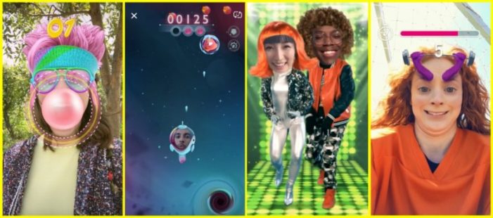 Snapchat launches AR face filters for playing games with friends