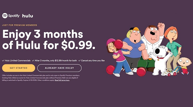 Spotify and Hulu launch joint subscription plan