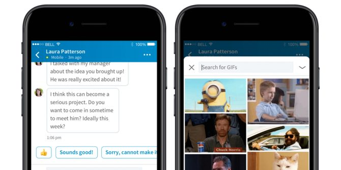 LinkedIn has teamed up with Tenor to add GIFs to its messaging