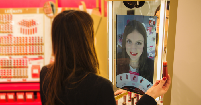 Coty unveils AR mirror that's activated when shoppers pick up a lipstick