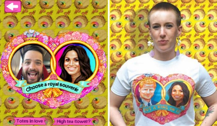 Zappar and Philip Normal deliver an AR-powered t-shirt to celebrate the Royal wedding