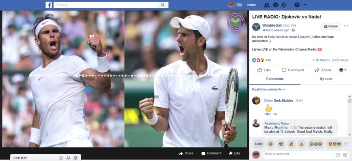 Wimbledon finds success with 'visual radio' content