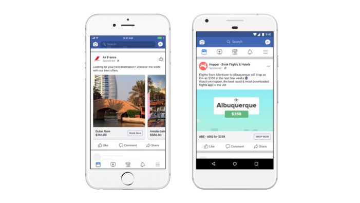 Facebook's Flight Ads Can Now Be Used for Prospecting