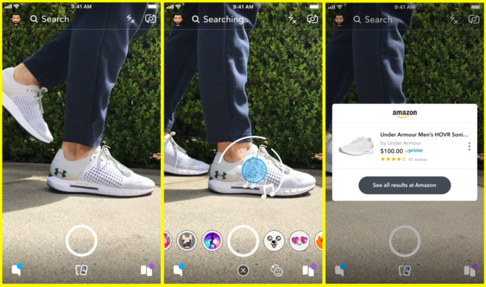Snapchat teams with Amazon for visual search tool