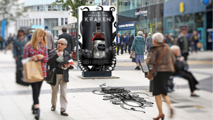 AR Campaign Releases the Dark Spirit of The Kraken Spiced Rum in Manchester