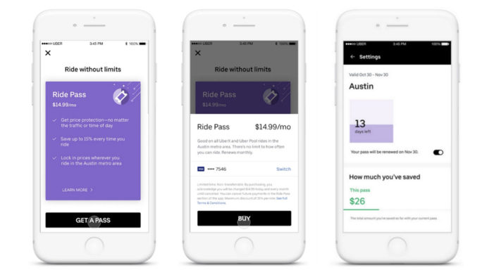 Uber launches subscription service for cheaper rides