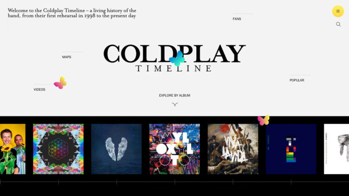 Rabbit Hole teams with Coldplay to launch interactive digital timeline celebrating the band's 20-year history