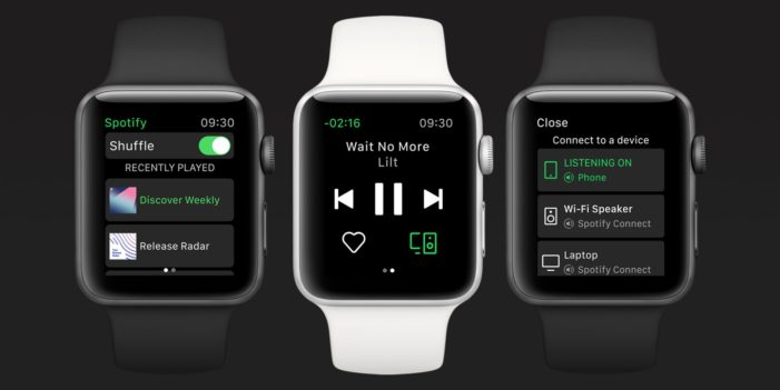 Spotify for Apple Watch helps you keep time with the music