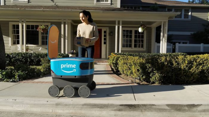 Amazon introduces 'Scout' the self-driving delivery robot