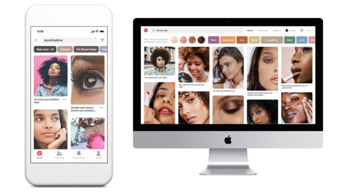 Pinterest launches new beauty search tool for different skin tones