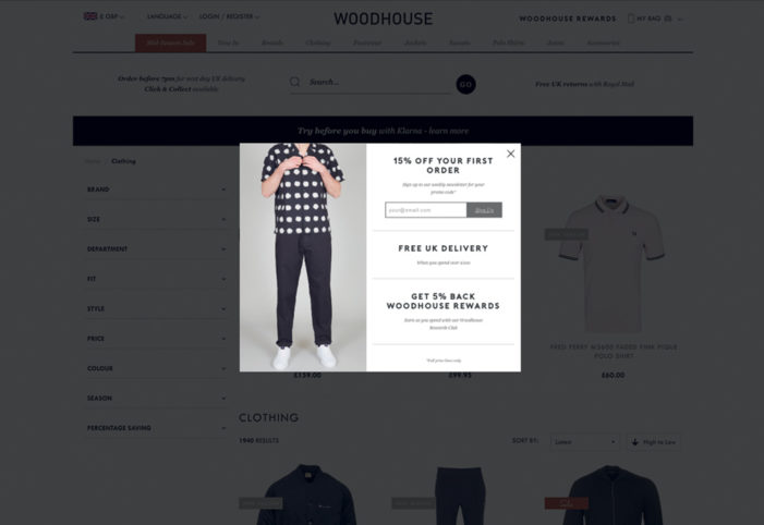 Fashion shoppers 44% more likely to buy from Woodhouse Clothing thanks to new AI-powered personalisation