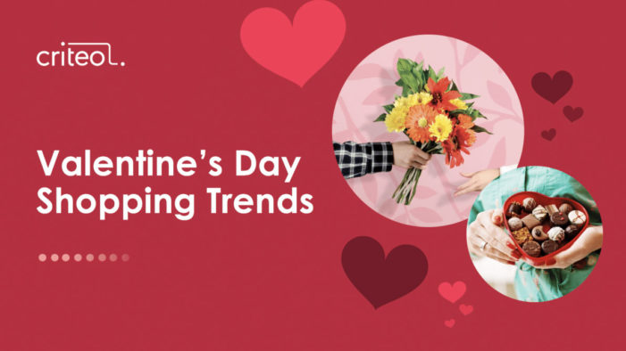 Criteo research: Last-minute lovers go mobile – over 50% of Valentine's orders are made using mobile devices
