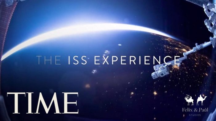 VR series to be broadcast from the International Space Station for TIME and Felix & Paul Studios