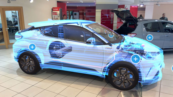Toyota launches AR app to provide a peek inside one of its hybrid models
