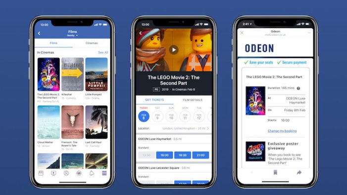 Facebook strikes cinema ticket deal with Odeon