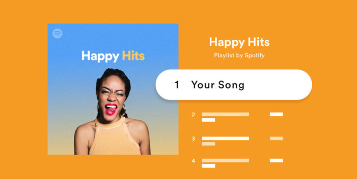 Spotify personalising some editorial playlists based on users' tastes