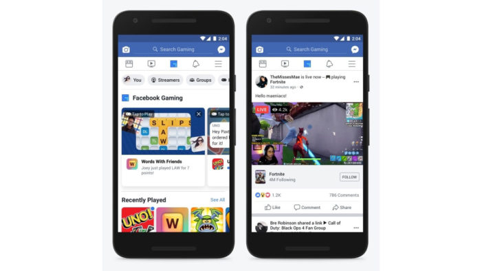 Facebook takes on Twitch, YouTube with addition of gaming hub to main app