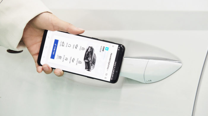 Hyundai unveils smartphone-based car key
