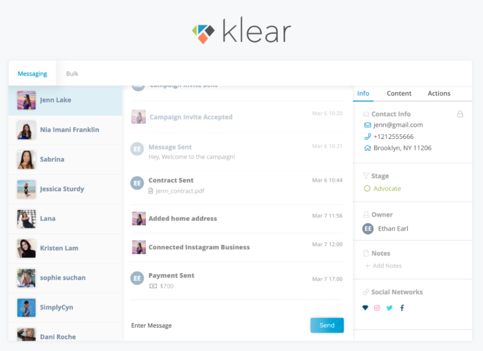 Klear launches Klear Connect, a CRM solution for managing all Influencer Marketing campaign activity