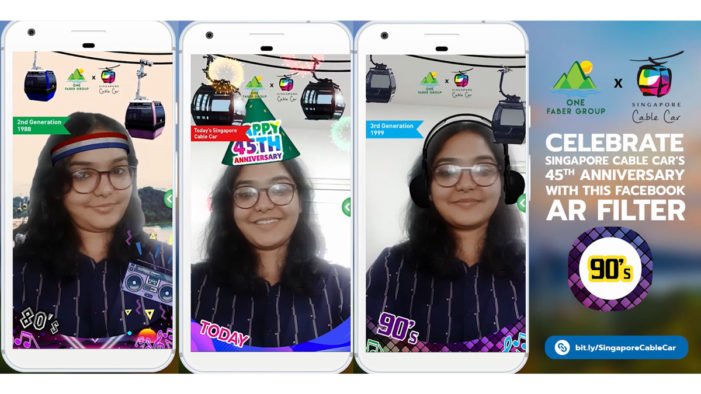 Singapore Cable Car launches nostalgic Facebook AR experience to celebrate 45th anniversary