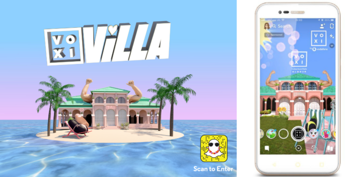 Voxi homages Love Island with Snapchat augmented reality villa