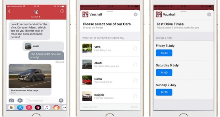 Vauxhall launches Apple Business Chat with IMImobile