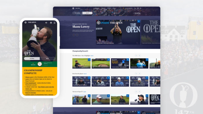 The Open achieves impressive digital fan engagement results at Royal Portrush