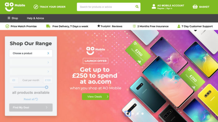 AO launches cheaper and simpler way to buy mobile phones