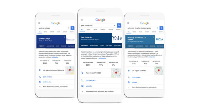 Google expands college search features in the US