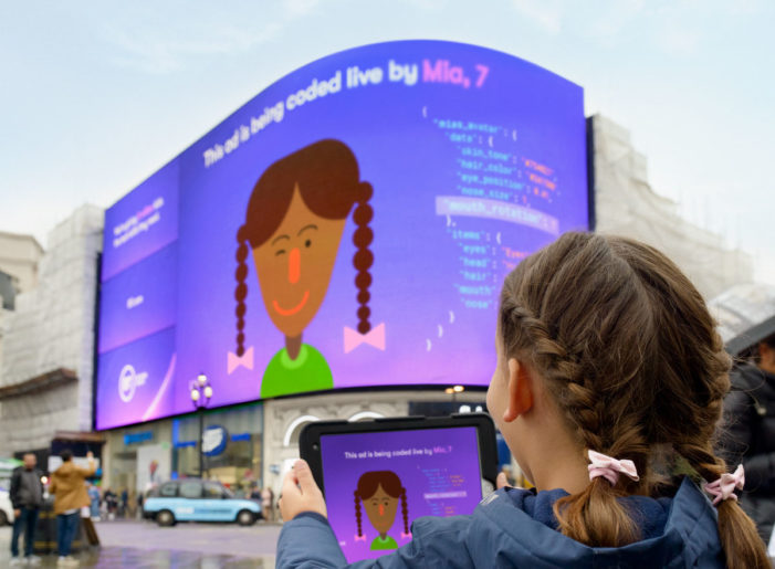 BT teaches children to code in Piccadilly Circus takeover