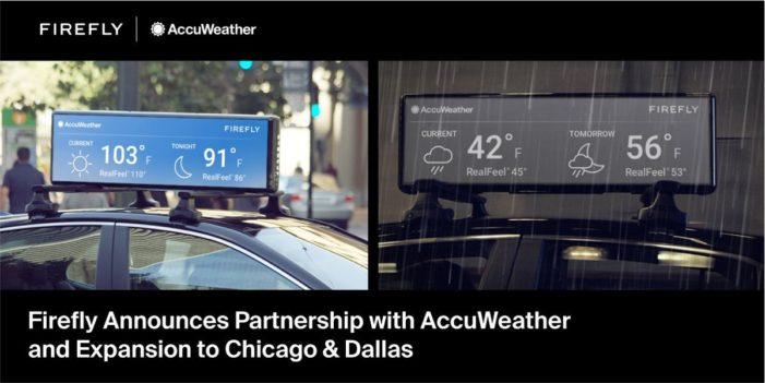 Firefly team with AccuWeather to deliver most dynamic campaigns ever available in OOH